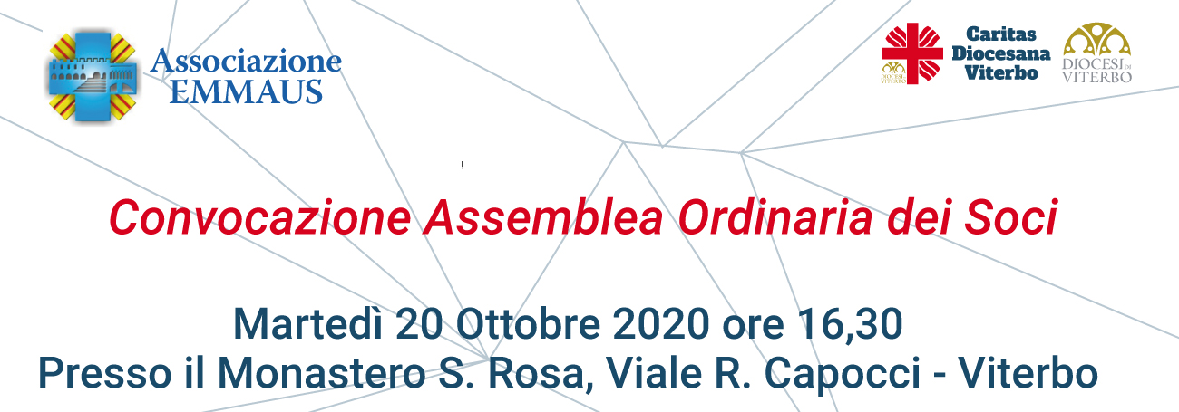Convocazione Assemblea Emmaus 10.2020